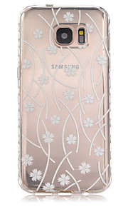 Striped Leaves Pattern Slip TPU Phone Case For Samsung Galaxy S7/S7 edge