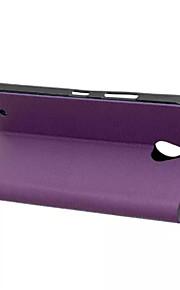 caja del grano de la madera original de alta clase de la PU de cuero de lujo para el lumia 850 casos (colores surtidos)