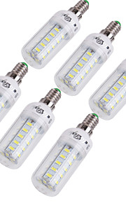 6 stk. YouOKLight® E14 / E26/E27 4W 36 SMD 5730 228 lm Varm hvit / Kjølig hvit T Dekorativ LED-kornpærer AC 220-240 / AC 110-130 V