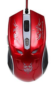 JITE 6d Gaming-Maus 6 Tasten verdrahtet Beleuchtung USB-Maus rot schwarze Gold