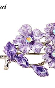 d overstige kvinders lilla emalje blomst broche og stifter sweater brocher chic nye mode