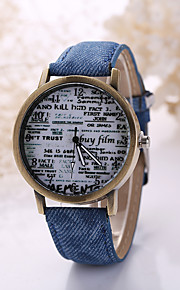 Men/Women White Case Leather Band Analog Quartz Wrist Watch