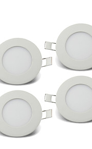 3W Panellys 15pcs SMD 2835 220-260lm lm Varm hvit / Kjølig hvit / Naturlig hvit Dekorativ AC 85-265 V 4 stk.