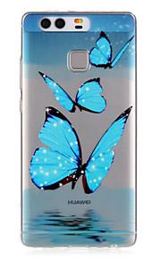 modello blu farfalla impresso caso di TPU per p9 / p9 lite