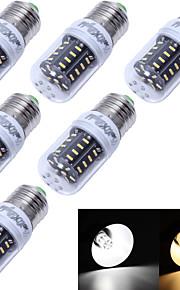 6 stk. YouOKLight® E14 / E26/E27 3W 36 SMD 4014 180 lm Varm hvit / Kjølig hvit T Dekorativ LED-kornpærer AC 220-240 / AC 110-130 V