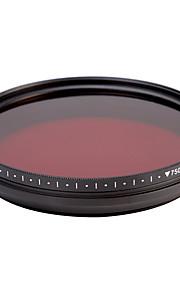 fotga® alt-i-én justerbar 530 nm-750 nm infrarøde ir pass røntgen linse filter 72mm