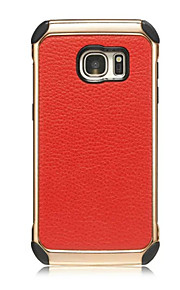Litchi Grain Electroplating Pattern Back Cover Hard PC+Soft TPU Armor Protective Phone Case For Sumsung Galaxy S7/S7edge