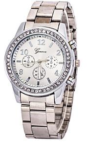 Mulheres Assista Quartz Relógio de Moda Relógio Casual Aço Inoxidável Banda Relógio de Pulso Prata / Dourada