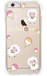 kakashi dierlijk patroon TPU schilderen airbag Hoogte- zachte hoes voor de iPhone 6s / 6 / 6s plus / 6 plus (schapen jesi)
