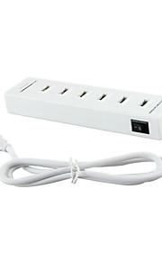 USB 2.0 6 puertos / interfaz USB lector de tarjetas concentrador SD / TF combinado 15.8 * 4.5 * 1.9