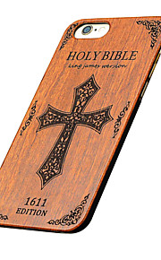Ultra Thin Wooden Holy Bible Carved Protective Back Cover Hard iPhone PC Case for iPhone 6s Plus/6 Plus/iPhone 6s/6