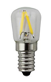 2W E14 LED-globepærer S14 2 COB 200 lm Varm hvit Dimbar AC 220-240 V 1 stk.