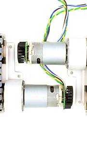 DIY Geared Motor with Cooling Fan For Robot /Chassis Car/ 2-Wheel Drive/ 2-Speed Encoder / For Arduino Raspberry Pi