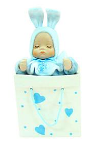 azul caixa de música romântica criativa para presente cerâmica rosa /