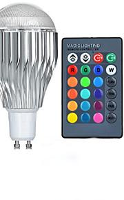 10W GU10 LED-globepærer A50 1 Høyeffekts-LED 600-800 lm RGB Fjernstyrt AC 85-265 V 1 stk.