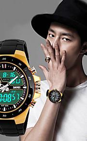 esportes dos homens levaram relógios multifunções cinta cor analógicos impermeável relógios de pulso digitais