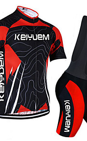 KEIYUEM®Others Unisex Short Sleeve Spring / Summer / Mountain Bike Cycling Clothing Bib Suits/ Breathable Quick Dry#23
