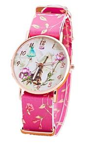 ocasional relógio populares relógio pequeno cinto impressão fresca das senhoras relógios torre românticos em Paris