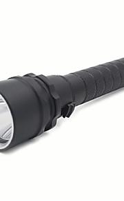 LED lommelygter / lommelygte førte 2-tilstand 8000 lumen vandtæt Cree l2 18650camping / vandre / caving / dykning / sejlads / cykel /
