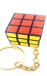 Glat Speed Cube 3*3*3 Nøglering / Hastighed Magiske terninger Ivory Plastik