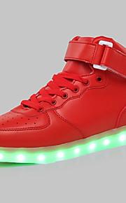 Sko-Kunstlær-Flat hæl-Komfort-Trendy sneakers-Fritid / Sport-Svart / Rød / Hvit