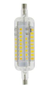 5W R7S LED-kornpærer T 60 SMD 2835 800 lm Varm hvit / Kjølig hvit Dekorativ / Vanntett AC 220-240 V 1 stk.