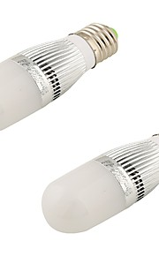 5W E26/E27 LED-globepærer T 28 SMD 2835 480 lm Varm hvit Dekorativ AC 220-240 / AC 110-130 V 2 stk.
