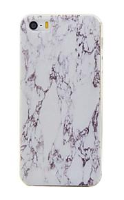 material de TPU padrão de mármore caso de telefone fino para iphone SE / 5s / 5