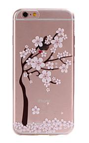material de TPU floresce padrão caixa do telefone fino para 6s iphone plus / 6 plus / 6s / 6