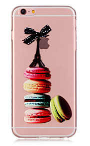 TPU Macaron Pattern Transparent Soft Back Case for iPhone 6s 6 Plus