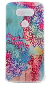 asusのzenfoneのLGのG5用TPU素材半分花の色塗りのパターンソフトフォンケース