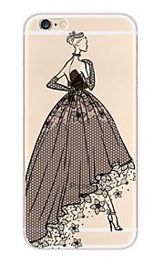 Kakashi blonder utskrift tpu maleri myk sak for iPhone 6s / 6/6-ere pluss / 6 pluss (skjønnhets damer)