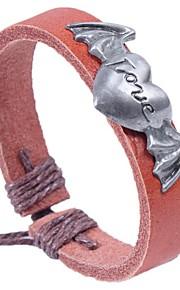 Læder Armbånd / Survival Bracelet 1pc,Sort / Brun Armbånd Legering / Læder Smykker Dame / Unsex