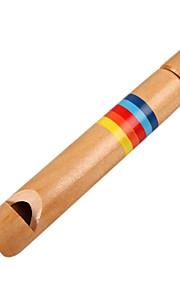 madeira criança amarelo flautas de madeira para as crianças todos os instrumentos musicais de brinquedo