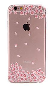 material de TPU flores rosa padrão de caixa do telefone fino para 6s iphone plus / 6 plus / 6s / 6