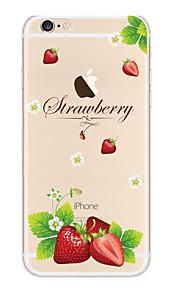 Kakashi litt frisk serie tpu maleri myk sak for iPhone 6s / 6/6-ere pluss / 6 pluss (jordbær)