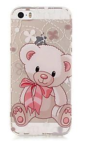 TPU Bear Pattern Transparent Soft Back Case for iPhone SE 5s 5