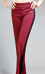 Yoga Pants Bottoms Four-way Stretch / Sweat-wicking Natural Stretchy Sports Wear Red / Black