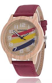 Mulheres Assista Quartz Relógio de Moda Relógio Casual Couro Banda Relógio de Pulso Vermelho