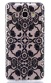 flores pretas padrão pintado caso de material TPU telefone para Galaxy j1 / j1ace / J120 / J2 / J3 / J5 / J510 / J7 / G360 / G530 / G850