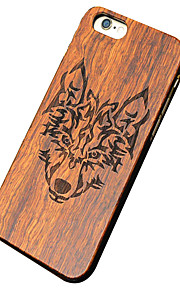 Ultra Thin Wooden Wolf Carved Protective Back Cover Hard iPhone PC Case  for iPhone 6s Plus/6 Plus/iPhone 6s/iPhone 6
