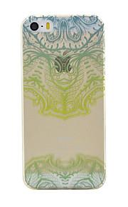 TPU material de cor oca padrão de flor caso de telefone macio para o iPhone5 / 5s / SE