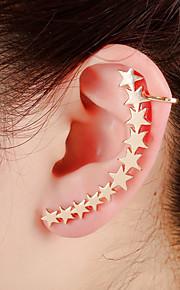 unisex mode guld / sølv stjerne øre manchetter øreringe smykker (1 stk, 10 g)