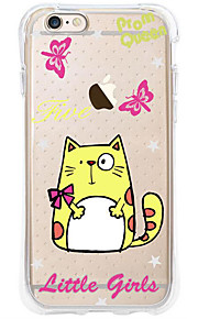 kakashi dierlijk patroon TPU schilderen airbag Hoogte- zachte hoes voor de iPhone 6s / 6 / 6s plus / 6 plus (bigface cat)