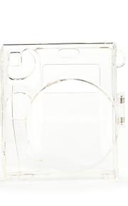 Mini 90 Instant Camera Case - Instax Mini 8 Transparent Case with Camera Shoulder Strap (Brown)