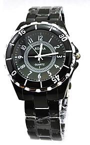 Casal Relógio de Pulso Quartz Relógio Casual Lega Banda Preta / Branco marca-