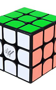 Rubiks kube IQ Cube Yongjun Tre Lag Hastighed Glat Speed Cube Magic Cube puslespil Regnbue / Sort Fade / Ivory ABS