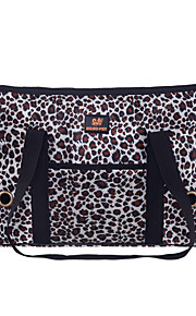 leopard stil kjæledyr carrier hund bag for hunder og katter