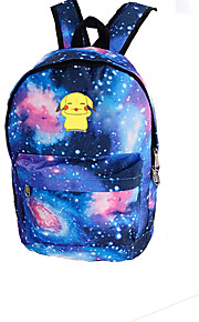 Pokemon Pikachu Galaxy Night Luminous Flourescent  Canvas Backpack Bag