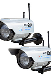 kingneo306sa extérieur solaire caméra de sécurité wifi puissance  caméra simulée avec antenne flash LED 2pc argent